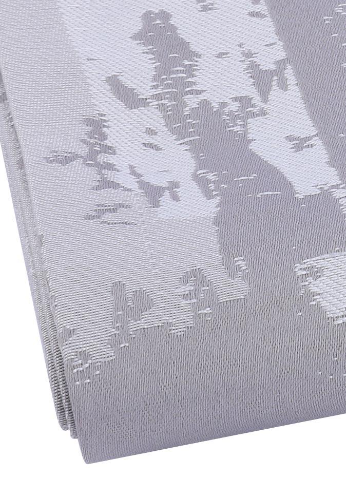 【纤丝纺】永久阻燃色织提花窗帘布 窗帘面料生产厂家