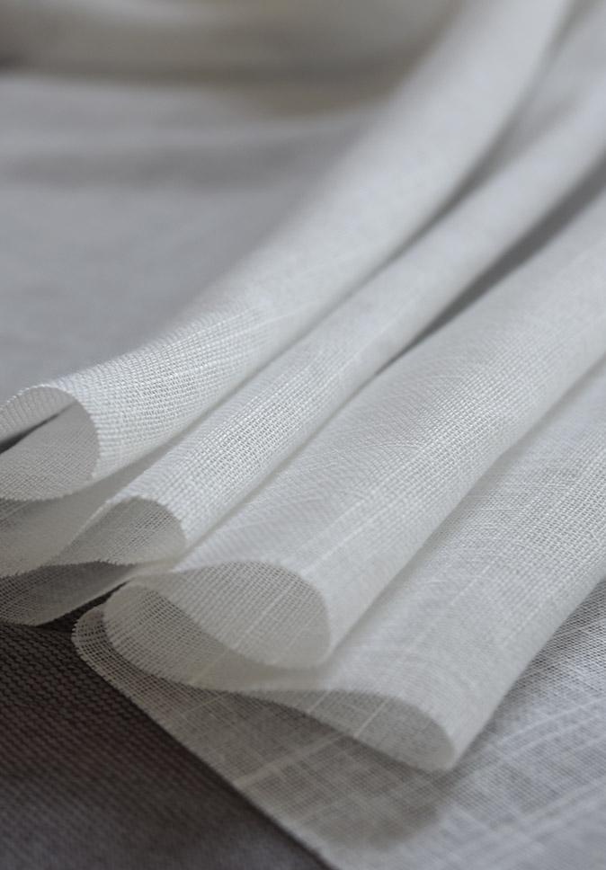 出口品质 品牌定制 纱线阻燃窗帘  来回竹节仿棉麻简约透光