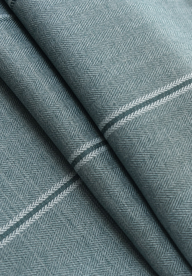 【纤丝纺】竖条人字斜 遮光布 布面柔滑手感柔软 遮光隔热北欧现代风格