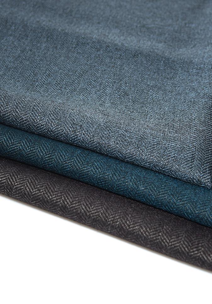 【纤丝纺】人字斜纹遮光面料  可定制颜色 仿麻风格 手感柔软 遮阳隔音隔热