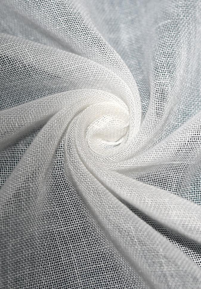 出口品质 纱线阻燃 短纤竹节窗纱 全涤 出口品质 透光轻薄窗纱面料