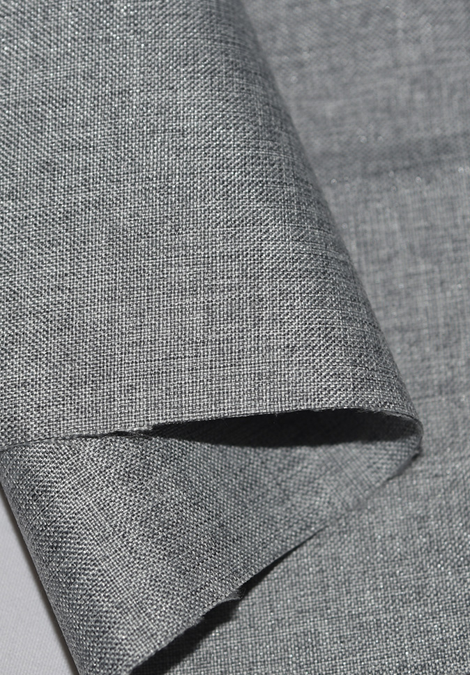 【纤丝纺】双面仿麻布全遮光阻燃窗帘面料厂家