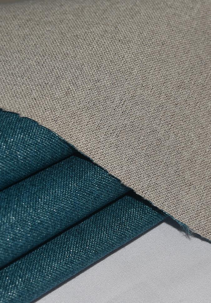 【纤丝纺】窗帘面料厂家直供双面仿麻布全遮光阻燃窗帘布