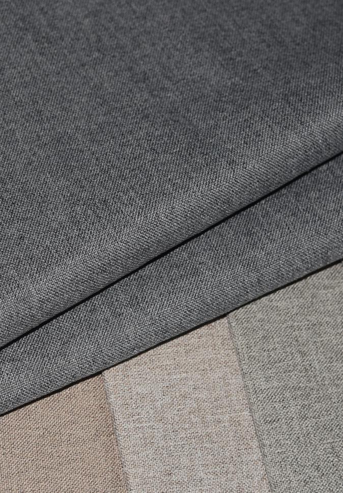 【纤丝纺】阻燃窗帘面料厂家双面仿麻窗帘布阻燃遮光布