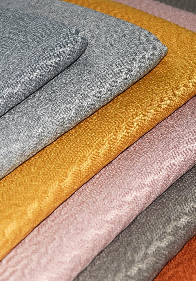 【纤丝纺】2021新品 永久阻燃家纺面料 外贸窗帘布厂家 遮光变缎仿麻窗帘布