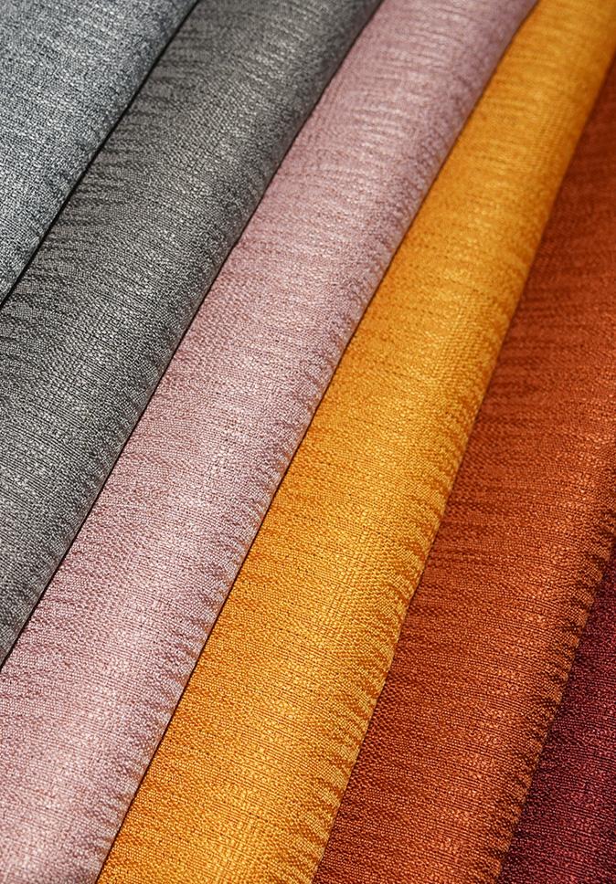 【纤丝纺】2021新品 小提花变缎窗帘面料  永久阻燃外贸窗帘布厂家